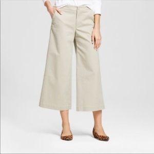 NWT Merona | Beige Khaki Wide Leg Capri Dress Pant